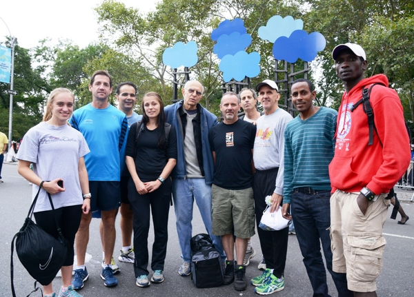 Group photo from the 2014 NYRR Fifth Avenue Mile.  Photo by George Gerbacia