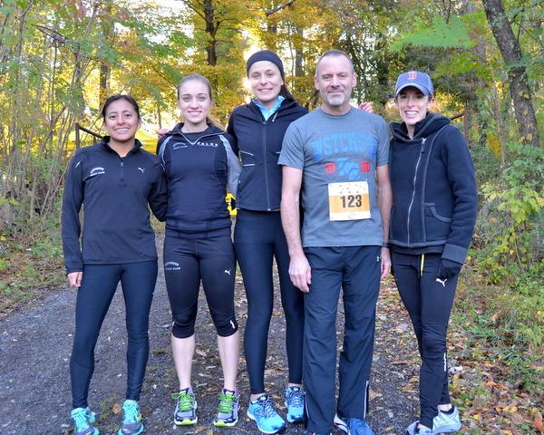 Pre-race at the 2014 Rocky's 5K. L to R: Libbey, Lindsey, Jenny, Dan, and Jennifer.