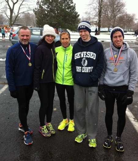 L to R: Dan Fanelli, Jenny Kurz, Maureen Carson, Brendan Wortner ( didn't race), Patrick Wortner