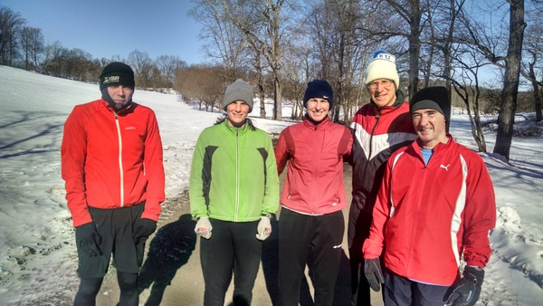 The fabulous five: Saturday practice, 15 degrees, windchill 00000!