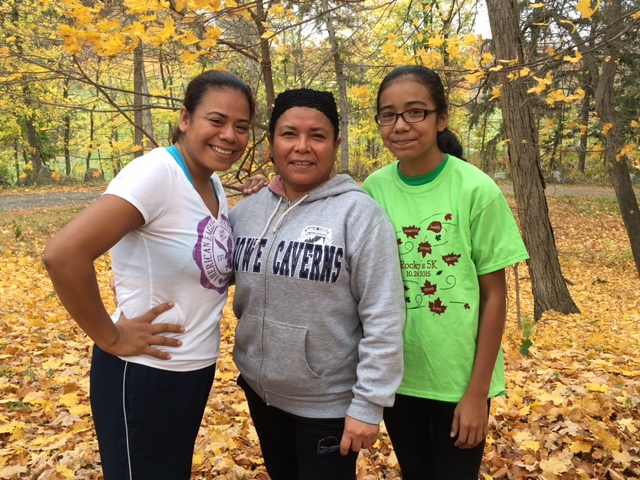 3 generations: Yvette, her mother, and grandmother all did the workout!